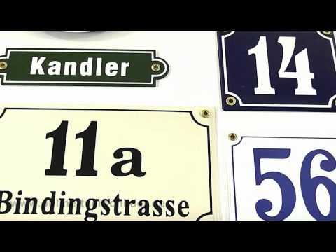 Hausnummernschild Emaille - Emailleschilder - Hausnummern