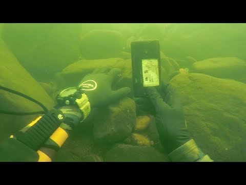 Found Knife, Fishing Pole and a Phone Underwater in River! (Scuba Diving) | DALLMYD