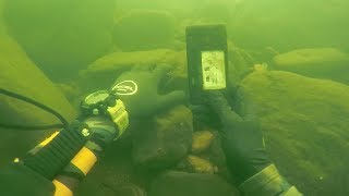 Found Knife, Fishing Pole and a Phone Underwater in River! (Scuba Diving) | DALLMYD - Video Youtube