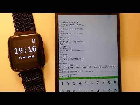 Developing for Pine64 PineTime using wasp-os and MicroPython