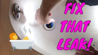 How To Replace a Bathtub Drain and Fix Leak
