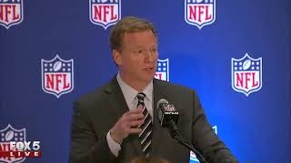 NFL Commissioner Roger Goodell holds press conference
