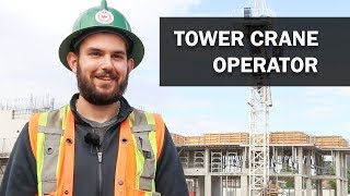 Job Talks – Tower Crane Operator – Stefon Operates and Maintains a Tower Crane