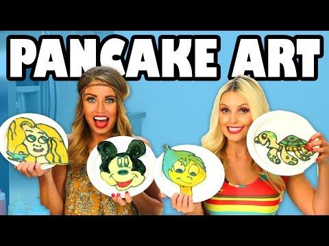 Pancake Art Challenge Jenn vs Lindsey. Totally TV