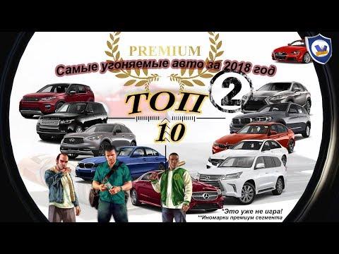ТОП 10 Угоняемых авто иномарки Премиум сегмента за 2018 год