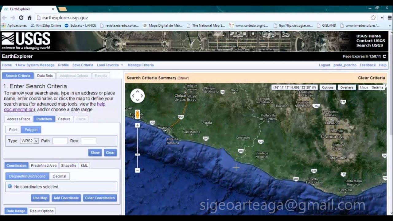 ¿Cómo descargar imágenes LANDSAT 8 / Sentinel 2A desde Earth Explorer? 100% Full Crackeado