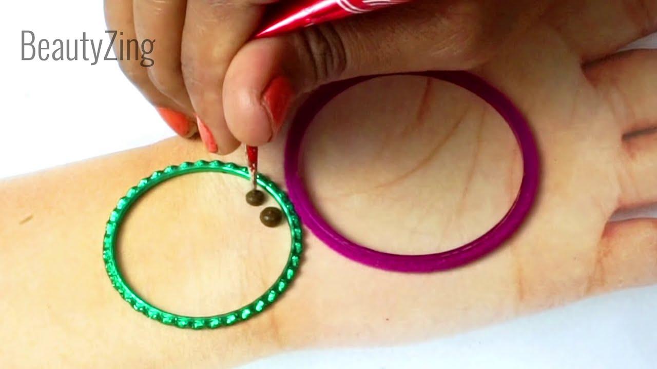 hand mehndi design using cotton bud by beauty zing