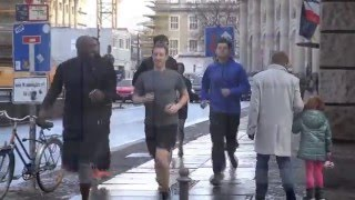 Mark Zuckerberg Jogging In Berlin