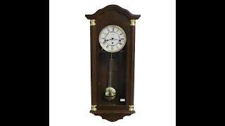Видео обзор механических настенных часов Hermle 70444 с четвертным Вестминстерским боем