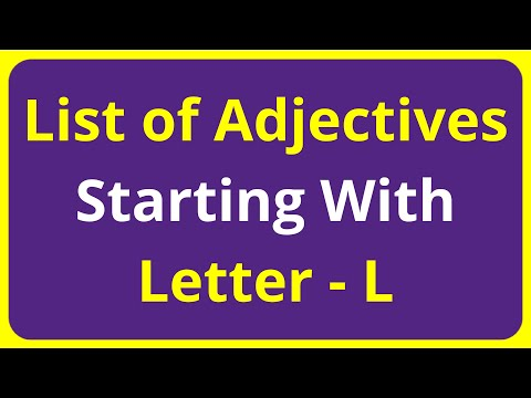 List of Adjectives Words Starting With Letter - L