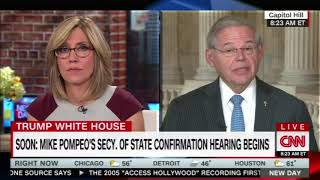 Menendez on CNN Discusses Pompeo Hearing and Possible Syria Military Strike