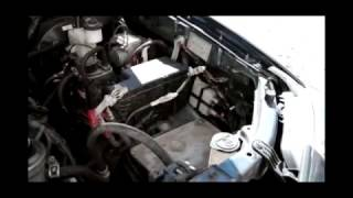 Установка аккумулятора на ToyotaFortuner2.7i (TopСar Asia 75Ah JR+)