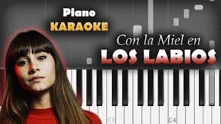 Aitana   Con La Miel En Los Labios | KARAOKE Piano  Tutorial  Cover