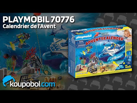 """Vidéo PLAYMOBIL Christmas 70776 : Calendrier de l'Avent """"Jeu de bain Policiers mission aquatique"""""""