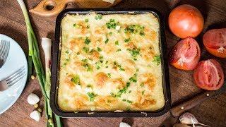 Картофельная запеканка с ветчиной и сыром