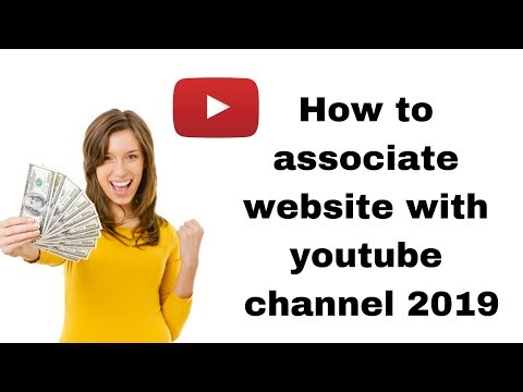 How to associate website with youtube channel 2019