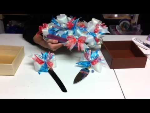 Como decorar pala y cuchillo para pastel