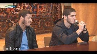 Рашид Магомедов и Ислам Махачев в ДГПУ