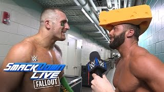 The Hype Bros get cheesy after qualifying for Survivor Series: SmackDown LIVE Fallout, Oct. 25, 2016