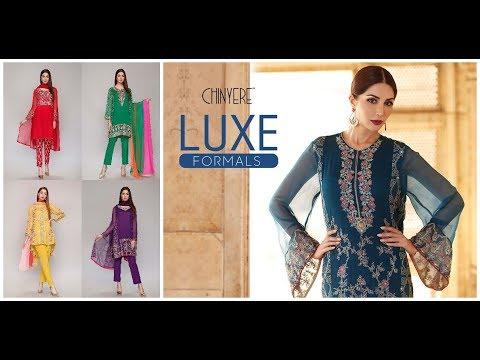 Chinyere Luxury Formal Embroidered Chiffon Suits Collection