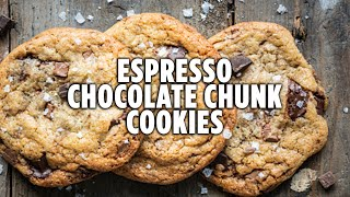 How to Make Espresso Chocolate Chunk Cookies | Java Chip Cookie Recipe | Hosted at Home