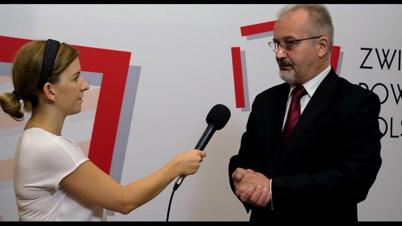 Wywiad TV ze Starostą Cieszyńskim Mieczysławem Szczurkiem podczas Zgromadzenia Ogólnego ZPP