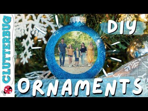 How to Make DIY Christmas Photo Ornaments 🎄🎁🎅🏻