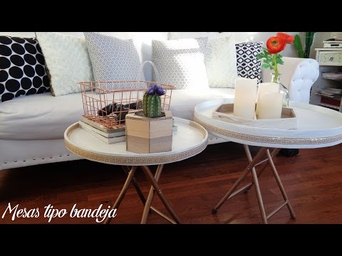 Room decor: Como hacer mesas tipo bandejas / reciclaje creativo / Tray tables