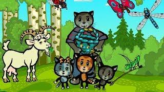 Не злись, помирись - Теремок песенки для детей (nursery rhymes) Три котенка - развивающие мультики