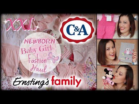 XXL NEWBORN BABY GIRL FASHION HAUL: Ernsting's family & C&A / BABY ERSTAUSSTATTUNG | NatBittersweet