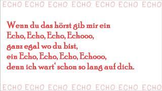 Echo   Vanessa Mai (mit Lyrics)