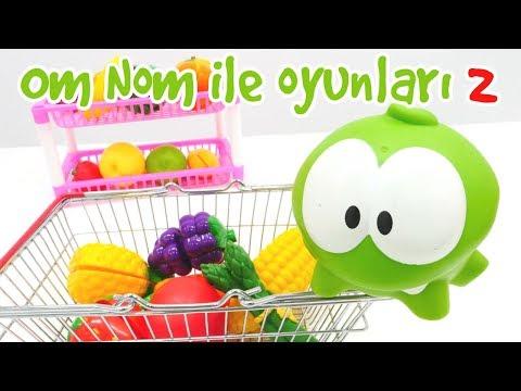 Om Nom ile oyunları 2. Çocuk için eğitici videolar