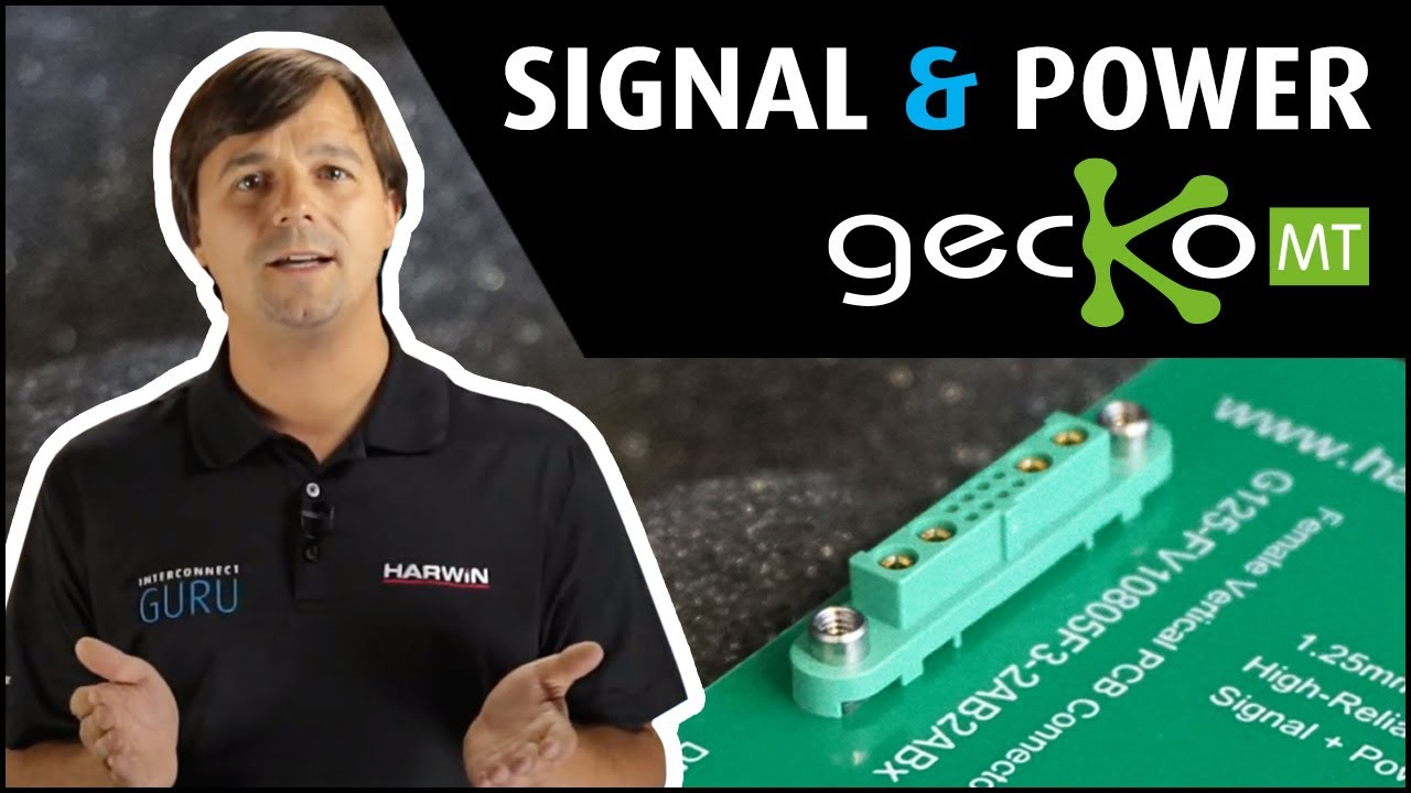 Youtube video for Interconnect Guru: the smallest & lightest mixed-layout connector ǀ Gecko-MT