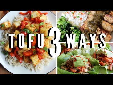 3 Awesome Tofu Recipes (Easy & Vegan)
