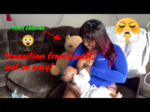 How to introduce the bottle while breastfeeding Serenity pt 2 Help Baby drink from bottle