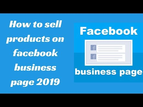 How to sell products on facebook business page 2019
