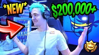 NINJA REVEALS HIS *NEW* $200,000 STREAM ROOM/GAMING SETUP! *LEGENDARY* Fortnite Moments