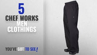 Top 10 Chef Works Men Clothings [ Winter 2018 ]: Chef Works Mens Lightweight Baggy Chef Pants