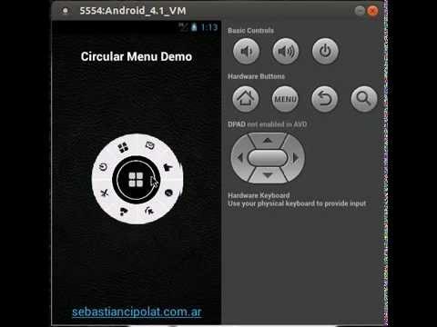Video of Circular Menu Demo