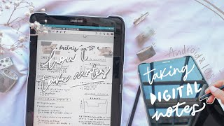 how I take 'aesthetic' notes on my tablet 🌿 *for android and ios*
