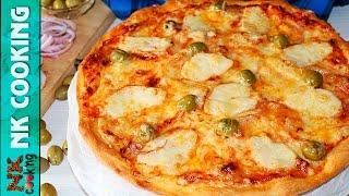 ПИЦЦА с Курицей BBQ ♥ Настоящее Итальянское Тесто и Соус ♥ Рецепты NK cooking