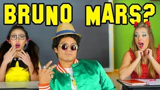 Is Bruno Mars our New Student or is He Fake? Celeb Classmates from Totally TV