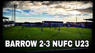 Match report   Barrow 2-3 Newcastle U23