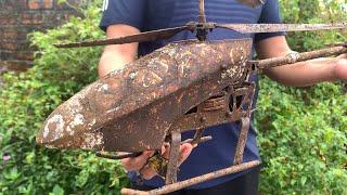 Restoration Old Remote Control Helicopter   Restoring Broken drone