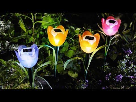 Lampa Solara LED tip Floare Lalea