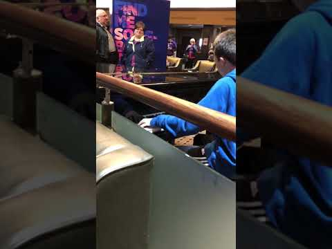 Random kid in Nebraska came out of nowhere, totally killed Bohemian Rhapsody on piano in lobby of movie theater after showing
