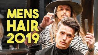 Mens Hair | Modern Side Swept Haircut & Style Tutorial 2019