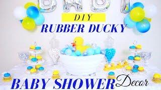 Rubber Ducky Baby Shower | DIY Baby Shower Decor Ideas