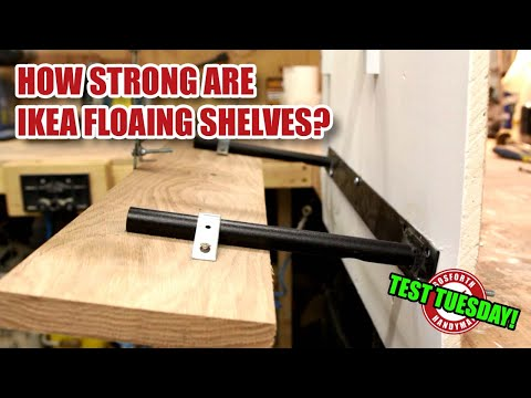 How strong is an IKEA LACK floating shelf on a hollow wall? Test Tuesday!