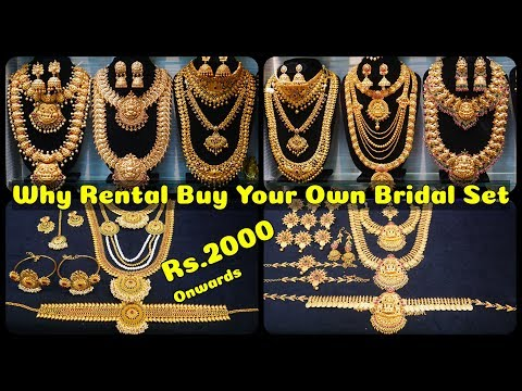 Rs.2000 Onwards Buy Your Bridal Sets For Own Purpose @ Wholesale Price   Jewel House Sowcarpet